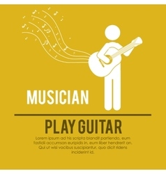 Play guitar design vector