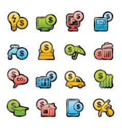 Payment of bills icons vector