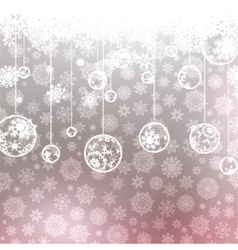 Christmas background with snowflakes eps 8 vector