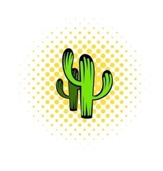 Cactus icon comics style vector image