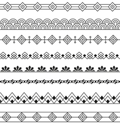 Art deco borders style line design variable line vector