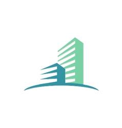 Cityscape modern building logo vector