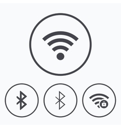 Wifi and bluetooth icon wireless mobile network vector
