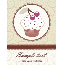 Cupcake invitation vector