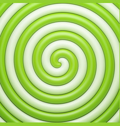 Abstract green candy spiral background vector