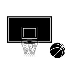 Basketball hoop and basketball ball vector