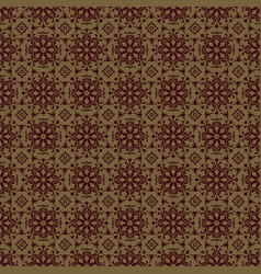 brown flower seamless pattern background vector image vector image