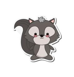 Cute skunk cartoon icon vector