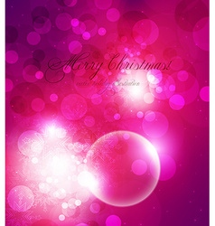 Elegant pink christmas background vector