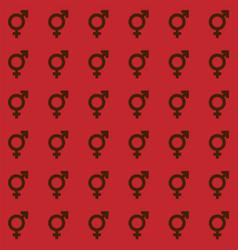 Gender icon seamless endless pattern transgender vector