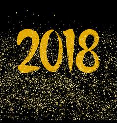 golden 2018 sign on black background vector image