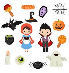 halloween symbols collection halloween symbols vector image vector image