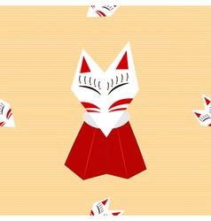 Inari fox yellow background vector