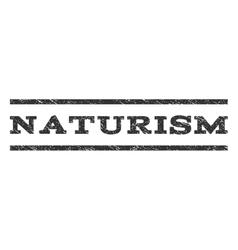 Naturism Watermark Stamp vector image vector image