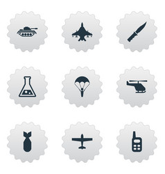 Set of 9 simple war icons can be found such vector