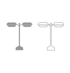 street light or lamp icon grey set vector image