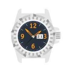 Watch Stylish accessory for men vector image