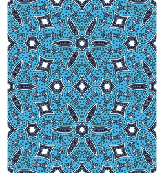 Ethnic seamless pattern in blue tones vector