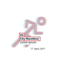 Sports activity identity runner logo vector