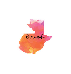 Abstract guatemala map vector