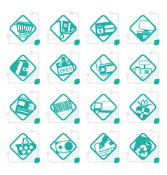 Stylized online shop e-commerce and web site icon vector