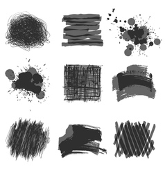 Hand drawn strokes vector
