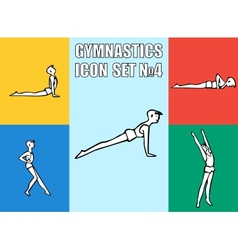 Set of yoga poses boy in recreation activities vector