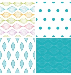 Colorful horizontal ogee set of four vector