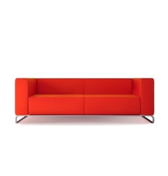 Red sofa isolated vector