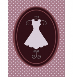 Vintage fashion background vector