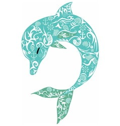 Dolphin turquoise vector