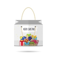Paper shopping bags collection for the holiday vector