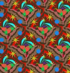 Colored circles stars vector image