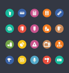 Glyphs colored icons 6 vector