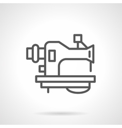 Old sewing machine black line icon vector