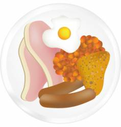 fried breakfast vector image