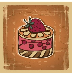 Retro cake background vector