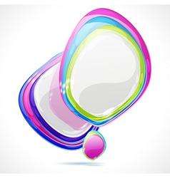 Abstract speech bubble vector image