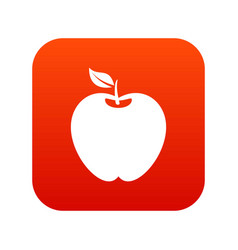 apple icon digital red vector image vector image