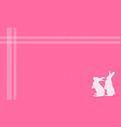 Art of easter greeting card with bunny vector