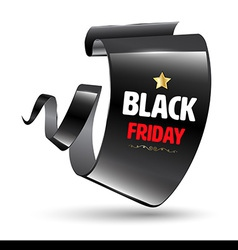 Black realistic curved modern banner black friday vector