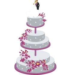 cake for wedding color 01 vector image