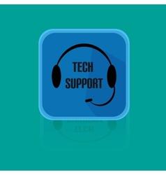 Call centrum flat design button tech support vector