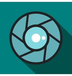 Camera aperture icon flat style vector image vector image