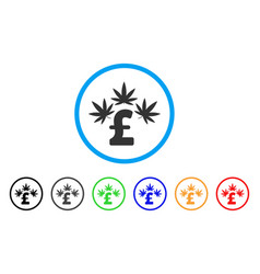 Cannabis pound business rounded icon vector