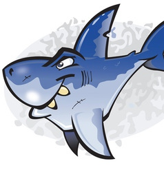 cartoon great white shark vector image