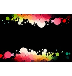 colored circles on a black background vector image vector image