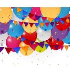 Colorful birthday balloon vector image vector image