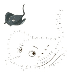 Connect the dots to draw game stingray vector