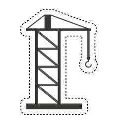 Construction crane service icon vector